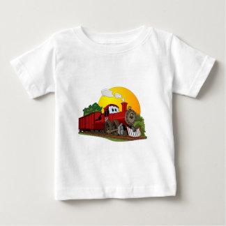 Red Cartoon Steam Engine Shirt