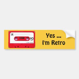 Red Cassette Tape Bumper Stickers