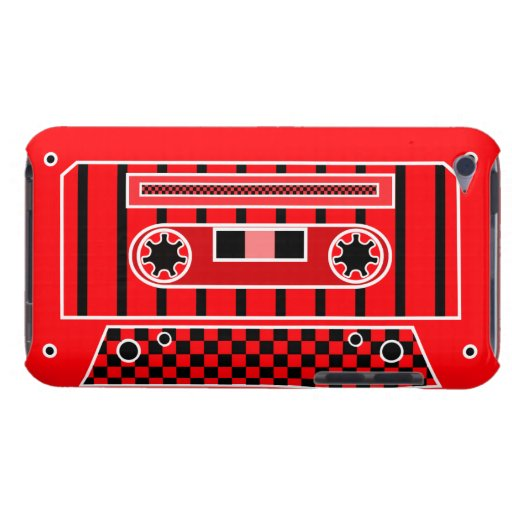 Red Cassette Tape Barely There iPod Covers
