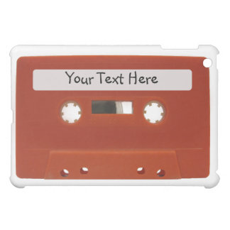 Red Cassette Tape Customizable iPad Case