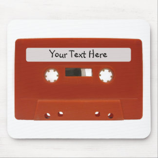 Red Cassette Tape Customizable Mousepad