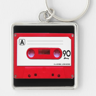 Red Cassette Tape Keychain