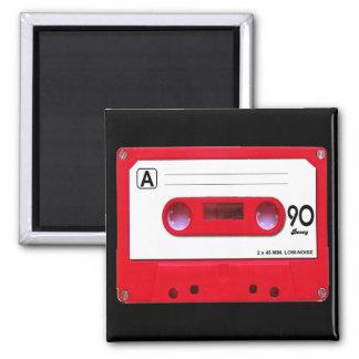 Red Cassette Tape Magnet