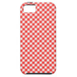 Red Casual Gingham Pattern Pic Nic iPhone SE/5/5s Case
