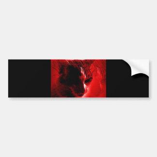 Red Cat Bumper Sticker