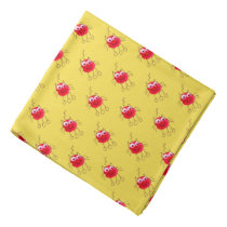 Red Cat Funny Drawing Bandana