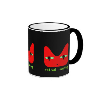 'red cat goes hunting' - Mug