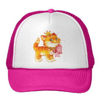 red cat trucker hat