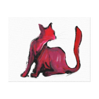 Red cat III Canvas Print