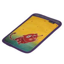 Red cat iPad mini sleeve