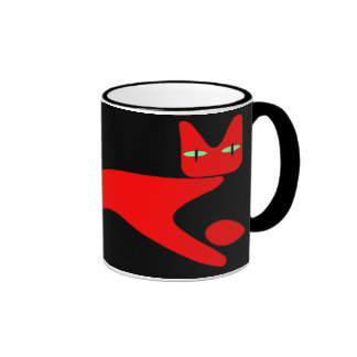 red cat Mug