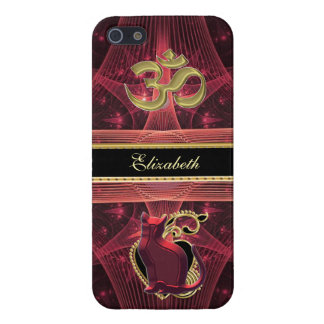 Red Cat on Heart Gazing at Gold OM Case For iPhone SE/5/5s