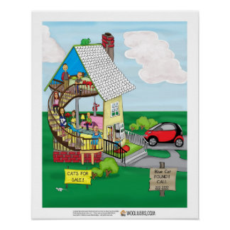 "Red Cat ""One Walled House"" poster"