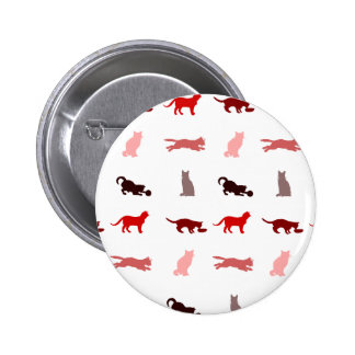 Red Cat pattern Button