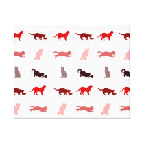 Red Cat pattern Canvas Print