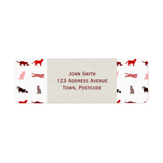 Red Cat pattern Label