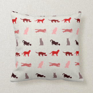 Red Cat pattern Pillow