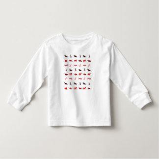 Red Cat pattern Toddler T-shirt