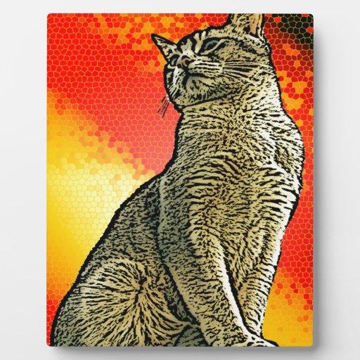 Red Cat Plaque