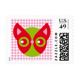 Red Cat Postage Stamps