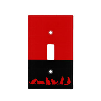 Red Cat silhouette Light Switch Cover