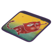 Red cat sleeve for iPads