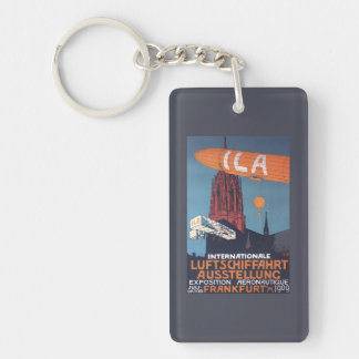Red Cathedral - 1st Aeronautical Exposition Double-Sided Rectangular Acrylic Keychain
