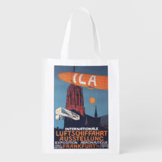Red Cathedral - 1st Aeronautical Exposition Grocery Bag