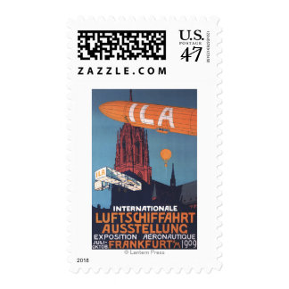 Red Cathedral - 1st Aeronautical Exposition Postage Stamp