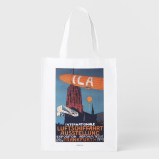 Red Cathedral - 1st Aeronautical Exposition Reusable Grocery Bag
