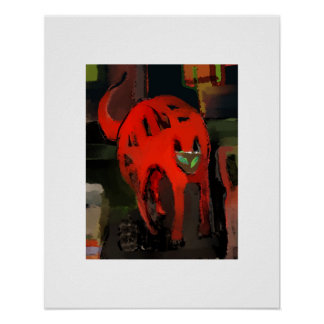 RED CATTY POSTER