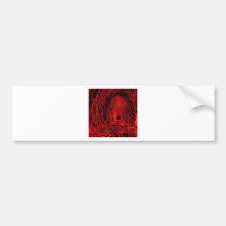 Red Cave Hallway Bumper Sticker
