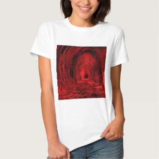 Red Cave Hallway T-Shirt