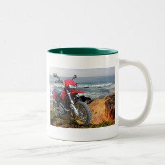 Red CCM R30 and ocean Two-Tone Coffee Mug