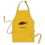 red cedar fish in fish apron