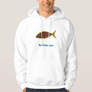 red cedar fish in fish hoody