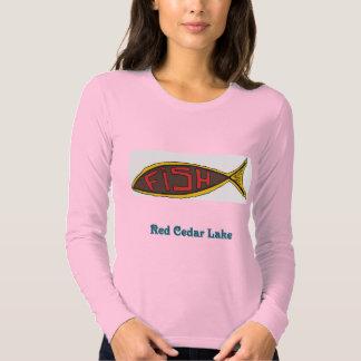 red cedar fish in fish shirt