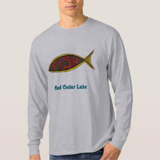 red cedar fish in fish t shirt