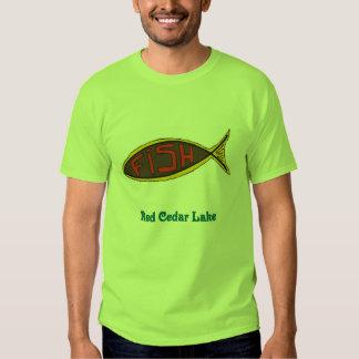 red cedar fish in fish t-shirt