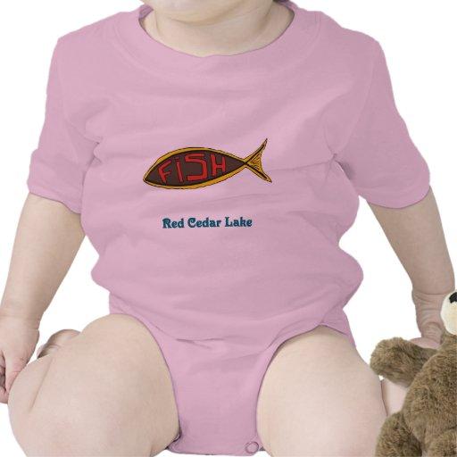 red cedar fish in fish tees