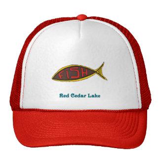 red cedar fish in fish trucker hat