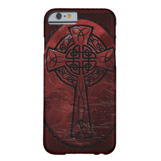 Red Celtic Cross Barely There iPhone 6 Case