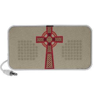 Red Celtic Cross Doodle MP3 Speaker