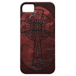 Red Celtic Cross iPhone SE/5/5s Case