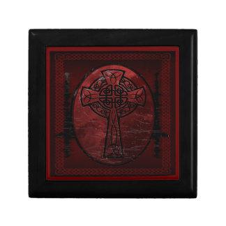 Red Celtic Cross Jewelry Box