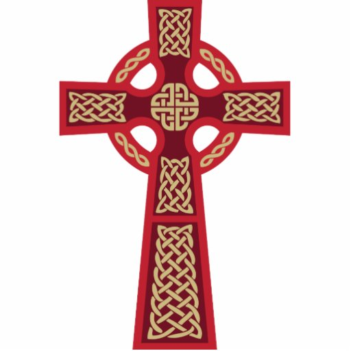 Red Celtic Cross Photo Sculpture