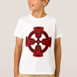 red celtic cross saxon viking wicca pagan T-Shirt