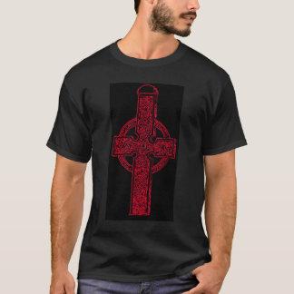 Red Celtic Cross T-shirt