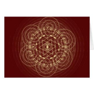 Red Celtic Design Card