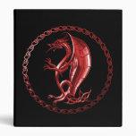 Red Celtic Dragon Binders